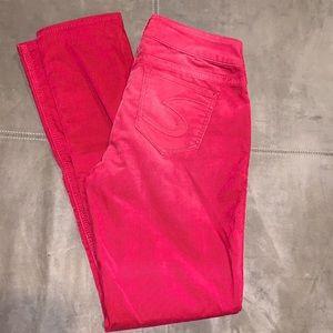 Silver Suki Skinny Corduroy Pants 28 31